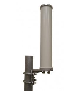 Antena Omnidireccional Doble Polarizacion de 10dBi 4.9-5.9 GHz 2 Conectores N Hembra
