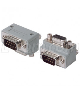 Adapter 90º, DB9 Male / Female, Cable Exit1