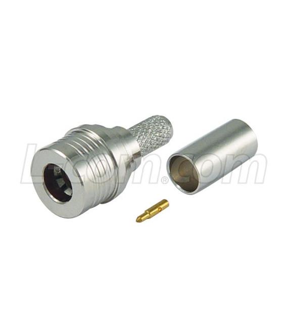 Conector QMA plug, crimpar LMR195/RG58