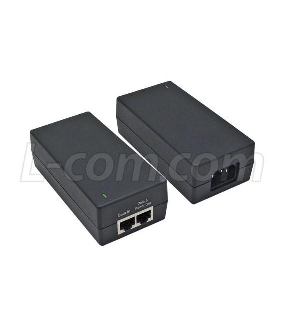 Gigabit PoE Injector 48VDC @ 19W, L-COM
