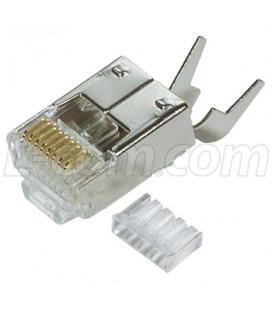 RJ45 8x8 Shielded Plug Pack 50 unidades