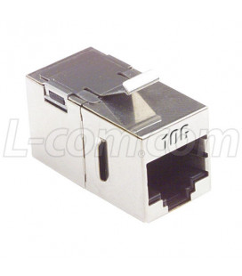 Cat6a Coupler -Shielded RJ45 (8x8) Keystone F/T