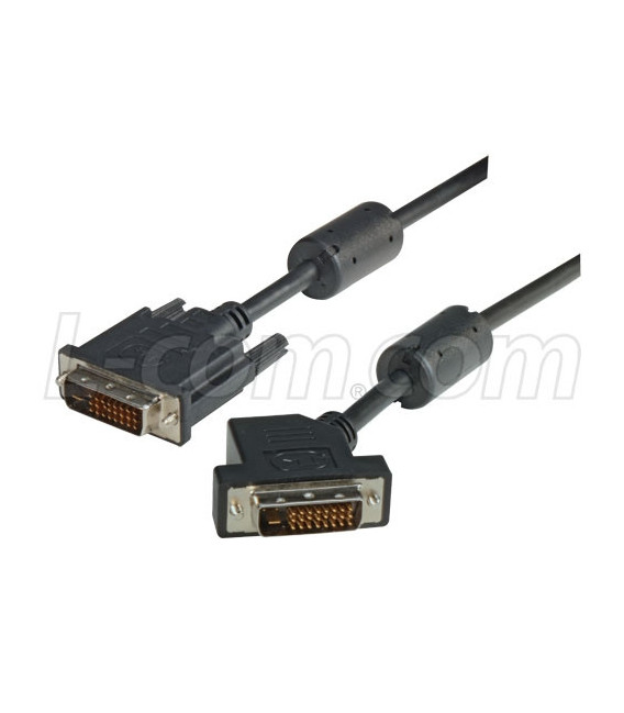 DVI-D Dual Link DVI Cable Male / Male 45 Degree Left, 1.0 ft
