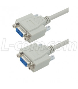 Null Modem Standard Cable, DB9 h /h, 1.8 mtrs