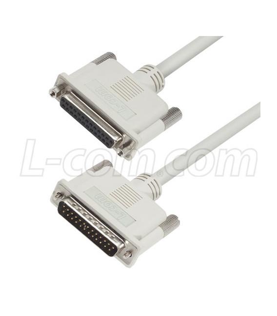 Cable Premium D-Sub, DB25 Male / Female, 25.0 ft, 7.62 metros