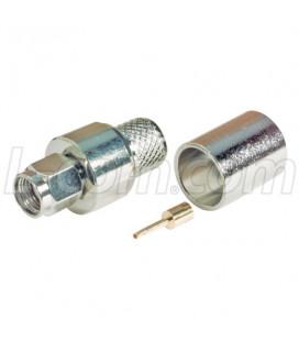 Conector RPSMA hembra (plug), crimpar, LMR400