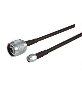 Cable coaxial LMR195 de 1 metros con conectores N macho y SMA Macho.