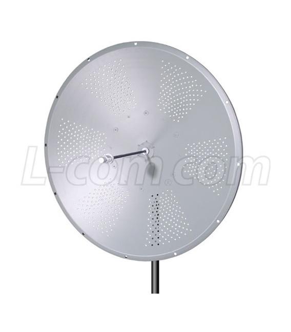 Parabolica 31 dBi, Polarida simple L-COM