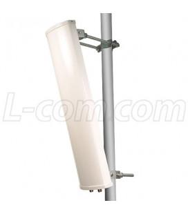 Panel Sectorial 2.4 /4.9-5.8 GHz, 14dBi, 90º,2 conectores N, Polaridad simple