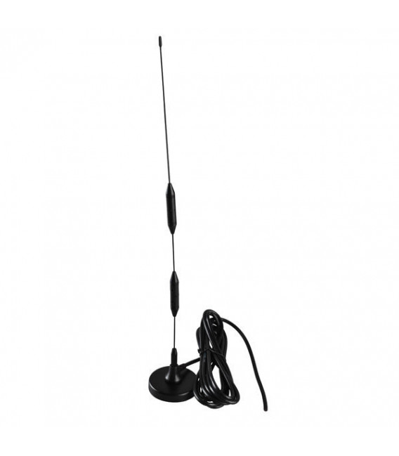 Antena Omnidireccional 9dBi con base magnetica 800/900/1800/1900/2100Mhz GSM/UMTS/HSPA/CDMA/3G