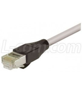 Cat5e RJ45 Ethernet Cable -Shielded 26 AWG PVC Jacket - Gray, 15.0 ft