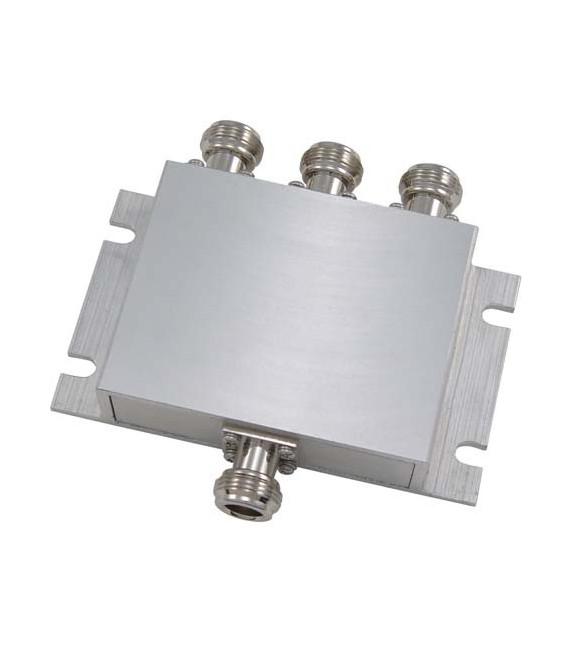 3-Way Low PIM Rated 750-2700 MHz DAS Signal Splitter