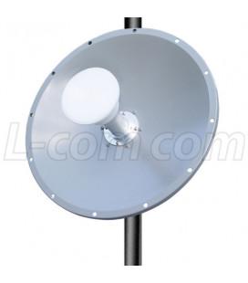 Parabolica dople pol. 25 dBi, 4.9-5.8 GHz