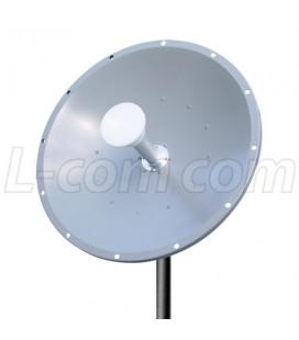 Antena parabólica 30dBi de Doble Polaridad disco solido 4.9-5.8 ghz 30 decibelios marca L-Com