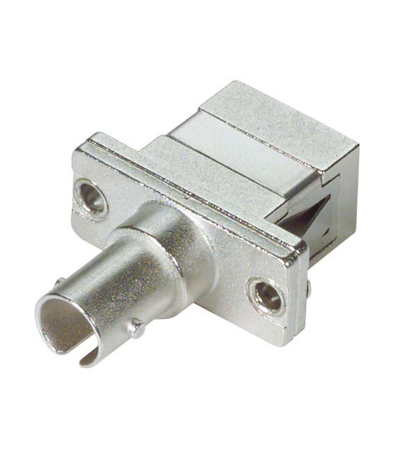 Fiber Adapter, ST / SC (Rectangular Mounting), Bronze Alignment Sleeve