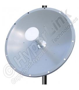 Antena parabólica 28.5dBi de Doble Polaridad disco solido 4.9-5.8 ghz 30 decibelios marca L-Com