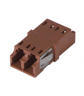 LC Duplex MM/SM Keyed Coupler Brown