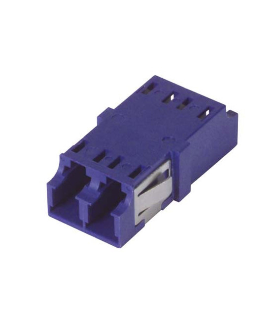 LC Duplex MM/SM Keyed Coupler Cobalt
