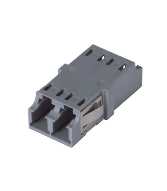 LC Duplex MM/SM Keyed Coupler Gray