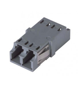 LC Duplex MM/SM Keyed Coupler Gray