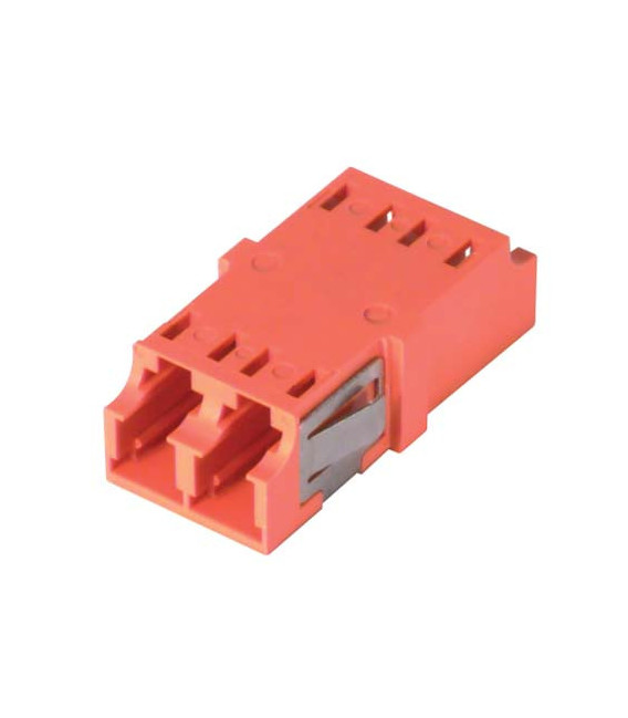 LC Duplex MM/SM Keyed Coupler Orange