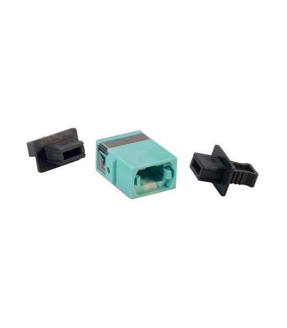 Fiber Optic MPO Coupler, Aqua