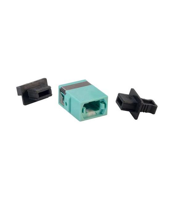 Fiber Optic MPO Coupler, Aqua
