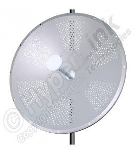 4.9-5.8 GHz 34 dBi Dual Polarized/X-Polarity Parabolic Dish Antenna