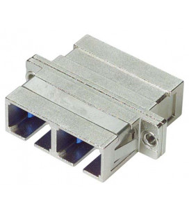 Duplex Fiber Coupler, SC / SC (Metal Body), Bronze Alignment Sleeve
