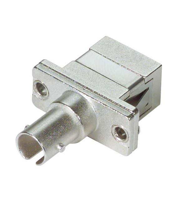 Fiber Adapter, ST / SC (Rectangular Mounting), Ceramic Alignment Sleeve
