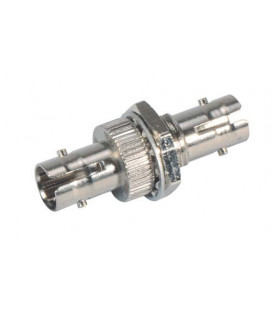 Ruggedized COTS ST Coupler, Singlemode 9/125 Nickel Plated Brass