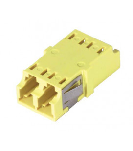 LC Duplex MM/SM Keyed Coupler Yellow