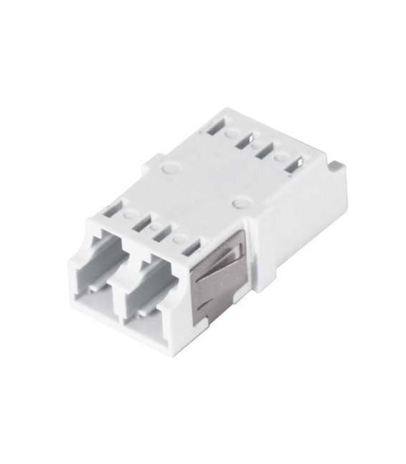 LC Duplex MM/SM Keyed Coupler White