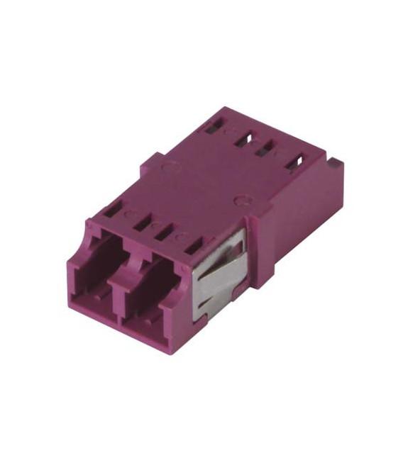 LC Duplex MM/SM Keyed Coupler Violet