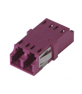 LC Duplex MM/SM Keyed Coupler Violet