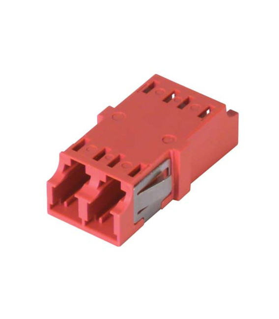 LC Duplex MM/SM Keyed Coupler Red