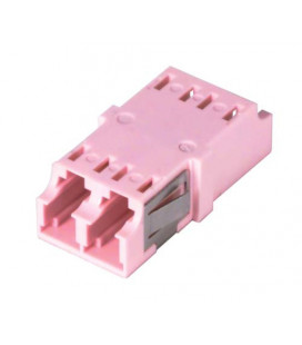 LC Duplex MM/SM Keyed Coupler Pink
