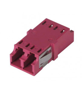 LC Duplex MM/SM Keyed Coupler Magenta