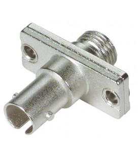 Fiber Adapter, ST / FC (Rectangular Body), Bronze Alignment Sleeve
