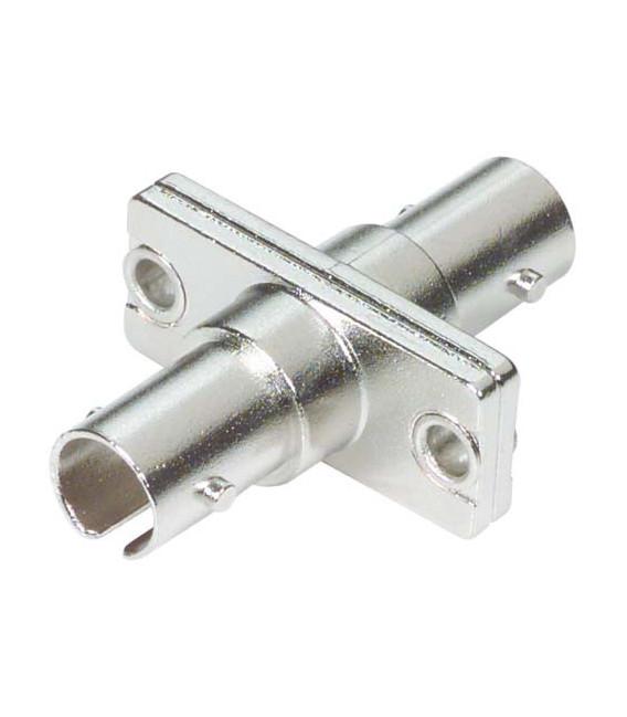 Fiber Coupler, ST / ST, Bronze Alignment Sleeve, Flange