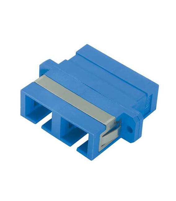 Duplex Fiber Coupler, SC / SC (Plastic Body), Bronze Alignment Sleeve