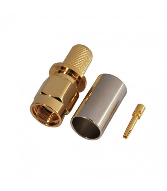 Conector RPSMA Plug, crimpar, LMR240