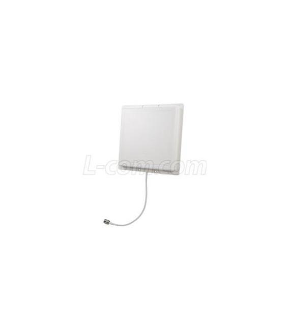 900 MHz 8 dBi RH Circular Polarized Patch Antenna-12in N-Female Connector