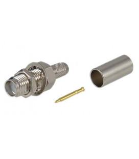 Conector RPSMA hembra (plug), crimpar LMR195