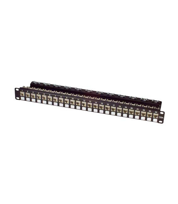 Cat6a Patch Panel, 24-Port Shielded EIA568A/B