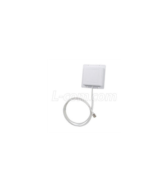 2.4 GHz 8 dBi Flat Patch Antenna - 4ft RP-SMA Plug Connector