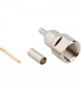 Conector FME, Plug Recto, Crimpable, 50 ohm, RG58 - LMR195