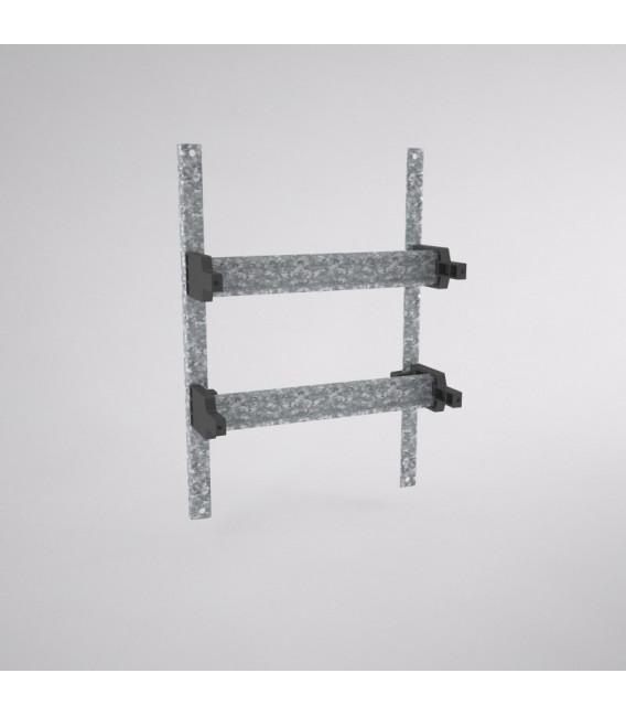 Capacidad para 20 módulos, BRES-325 (en 2 filas)
