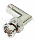 Coaxial 75 Ohm Right Angle Adapter, BNC Male / Female