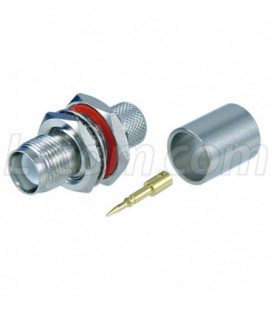 RP-TNC Bulkhead Jack for RG8, 400-Series Cable
